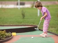 Турнир по мини - гольфу в жилом массиве