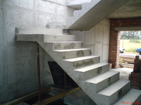 Монолитная лестница.