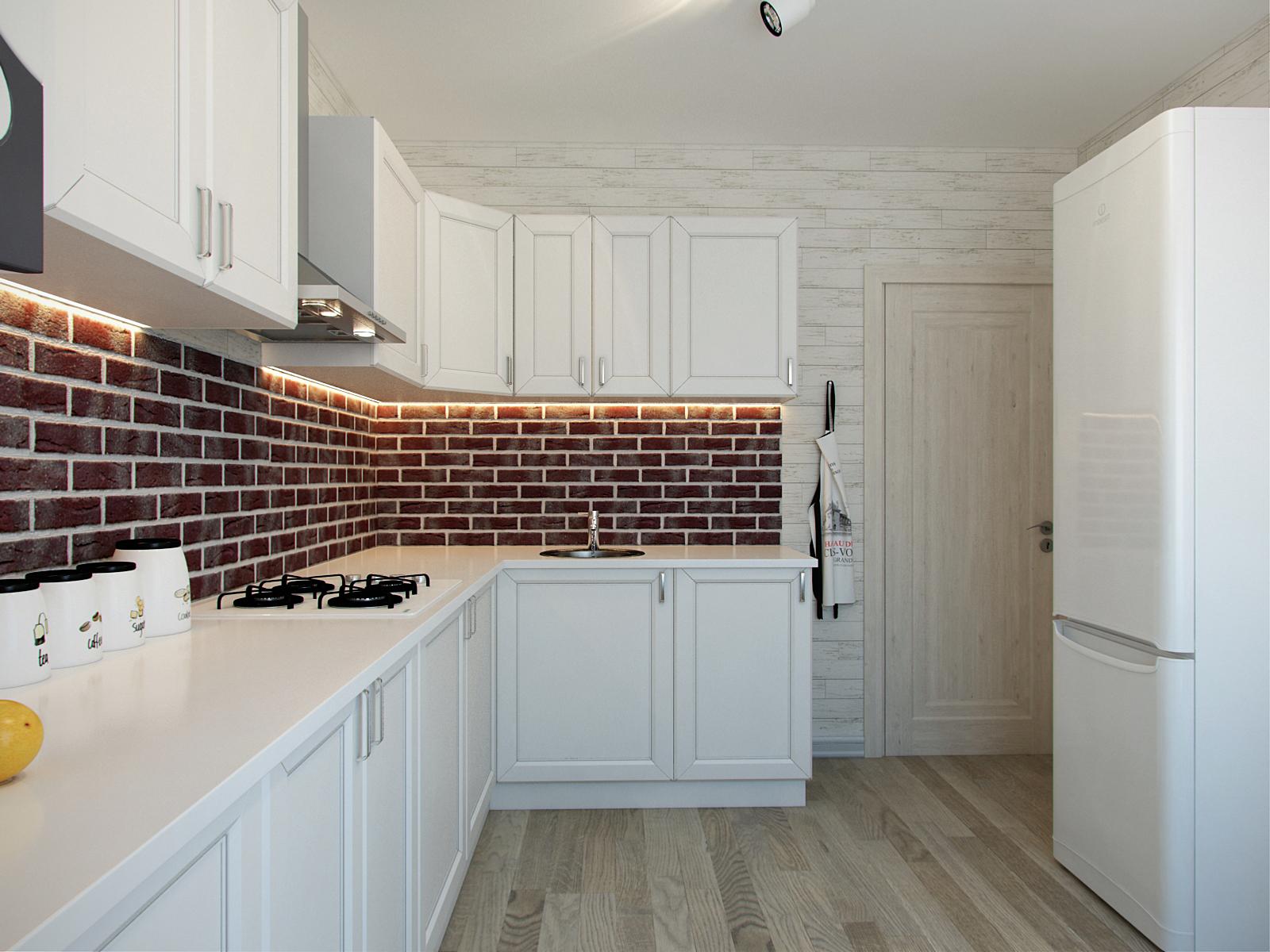 Кухня с индивидуальным отоплением дизайн